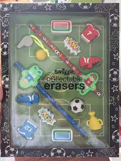 Smiggle collectibles eraser - soccer
