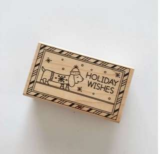 Hero Arts Holiday Wishes Christmas Wood Stamp