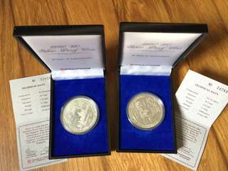Singapore 1990 Silver Proof coins (2 sets)