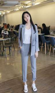 🚚 Suit women's, Grey with white strap