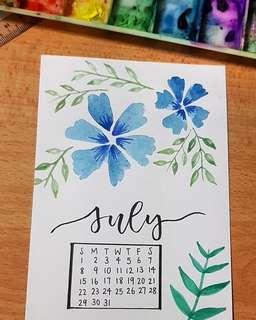 [PREORDER] Monthly calendar