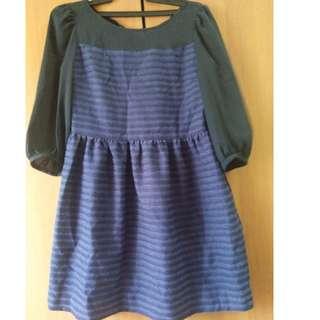 Short Purple Long Sleeve Dress