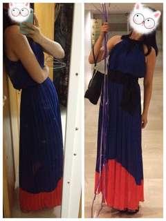 Blue Long Dinner Dress