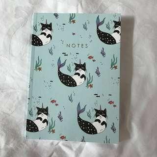 🚚 Mermaid Cat Notebook