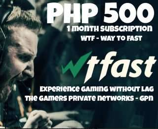 WTFast 1 Month Subscription