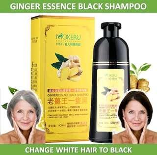 Mokeru Healthy Herbal Black Hair Dye Shampoi