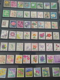 日本花系列郵票(已蓋銷郵票)