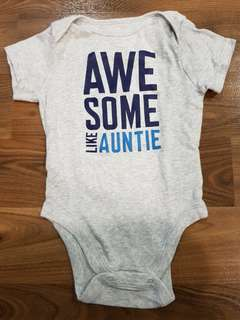 Awesome Auntie Onesie (18-24m)