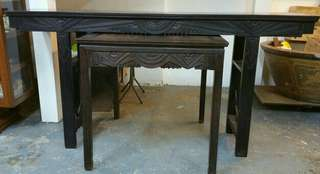 Antique Blackwood Table Set