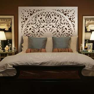 """Balinese Queen Size Bed Headboard """"Lily"""" - 150 cm"""