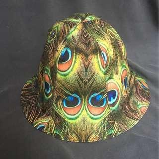 孔雀漁夫帽(雙面戴)