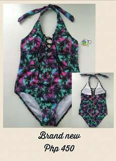 OP tropical print one piece swimsuit