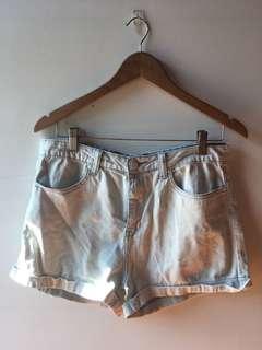Forever 21 Light Wash Denim High Waist Shorts