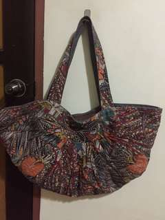 Large Tropical Festival Print Bag