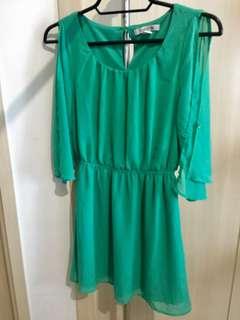Forever 21 Sheer Cold shoulder dress