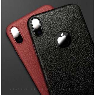 🌼C-1152 Leather Logo Case for iPhone X🌼