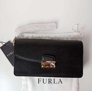 Furla Long Julia Clutch Onyx sz 21cm