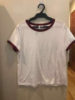 Brand New H&M ringer tee (final price)