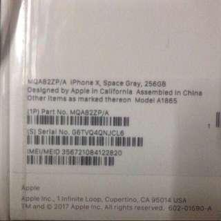 美版iPhone x 256