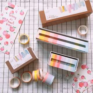 Macaron Pastel Washi Samples