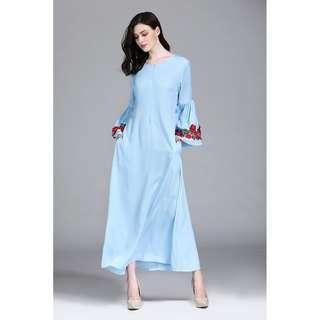 Longsleeves Long Jubah Dress