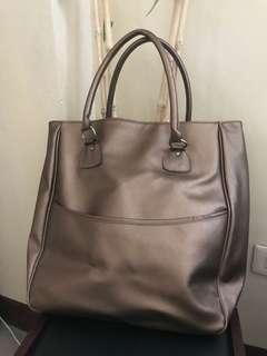Brown gold bag