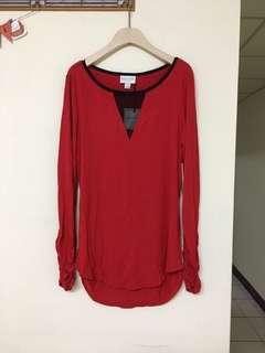🚚 贈-正紅色上衣