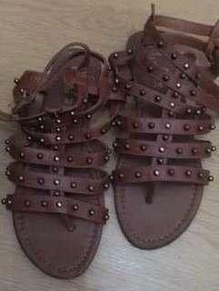 Rue 21 Gladiator Studded Flat Sandals