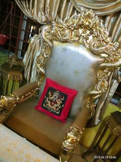 Golden Dragon Pillow Case with red frame