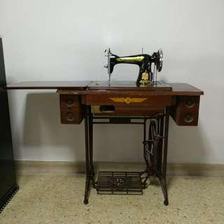 Fully functional flying man Sewing Machine vintage antique