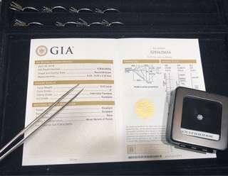 GIA 証書 半卡完美祼鑽