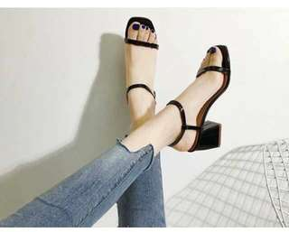 Korean 2-inch square heels