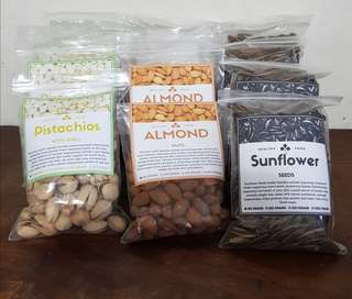 Almond Raw Nuts, Pistachio Nuts, Sunflower Seed