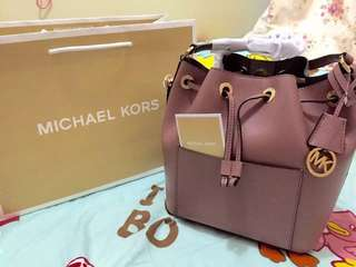 Michael Kors Bag 深粉紅牛皮水桶袋 斜孭袋