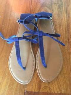 Forever 21 Blue Strappy Sandals/Flats