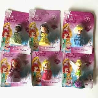 Disney Princess erasers