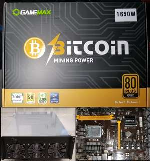 Bundle Deals - 4U Server Case, Biostar TB250 BTC, 1650 watts PSU (Mining Parts)