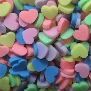 Pastel Hearts Sprinkles confetti