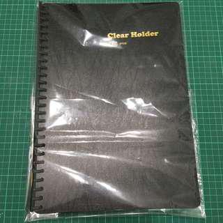 File folder ( clear holder ) black colour