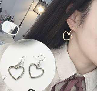 Korean Style Heart Geometric Earrings