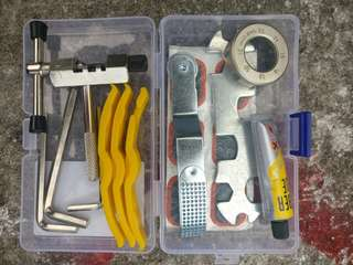 Bicycle tyre and chain repait kit
