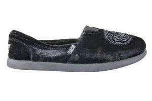 New Bobs Black Velour Slip-Ons