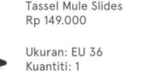 Tassel mule slides