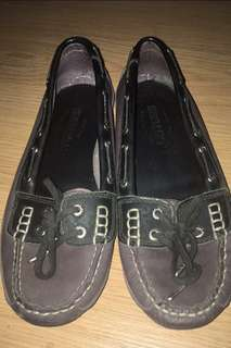 Barely Used Sebago Women's Bala Violet Ice Boat Shoes