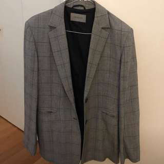 Vintage oversized check blazer