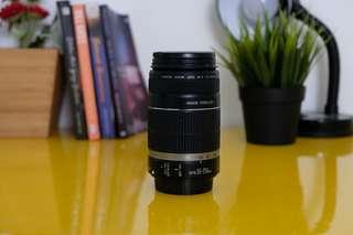 Lensa Tele canon 55-250 mm