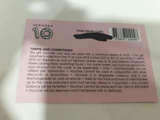 Sephora Gift Card $10