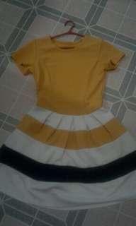 Black and Yellow dress.