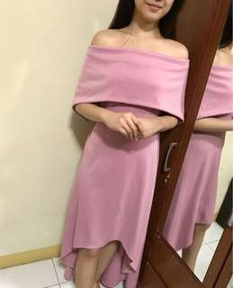 Pink Off Shoulder Gown (Repriced)