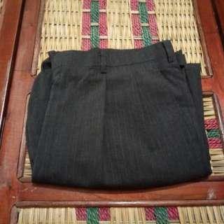 C01 Celana Panjang Kerja Stripes Pria Size 39 Black